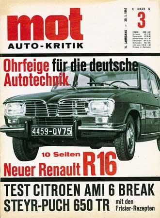 Spezial 40 Jahre Renault 16: Renault 16 in der Presse